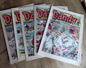 childrens comic English Dandy magazine toy boys desperate dan supply paper 1980s vintage