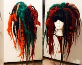 Autumn Fall Colors Full Dread Wig dreads dreadlocks dreadlock wig goth punk cyber gothic raver Halloween cosplay