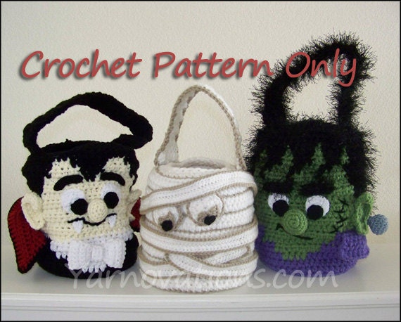 Trick or Treat Bags - Frankenstein, Dracula, Mummy
