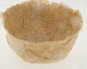 Paper Bowl, gold, yellow ochre, light brown papyrus decorative paper papier mache  bowl