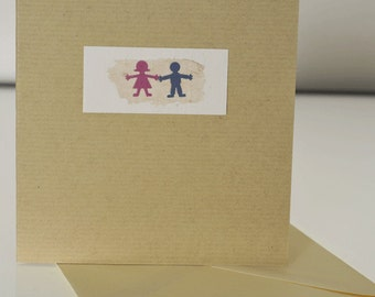 Love Handmade Greetings Card, Wedding, Valentine, engagement, birthday, anniversary, someone special, love you boy and girl card