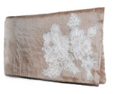RESERVED FOR STUART Pink Clutch with Lace Applique