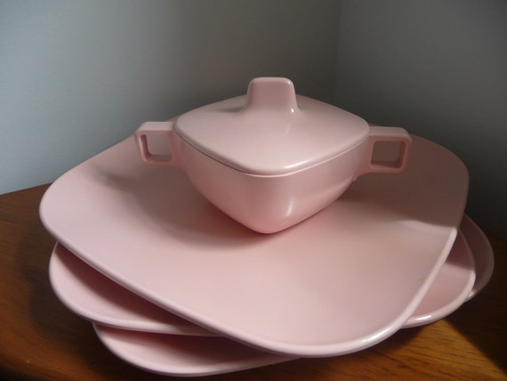 Reserved for Trace: Pink Melamine Dish