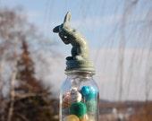 Soft Moss Green Tiny Bunny Treasure Jar