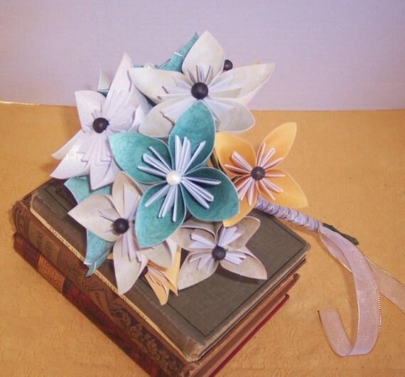Paper flower bouquet, wedding, event, arrangement- MADE TO ORDER