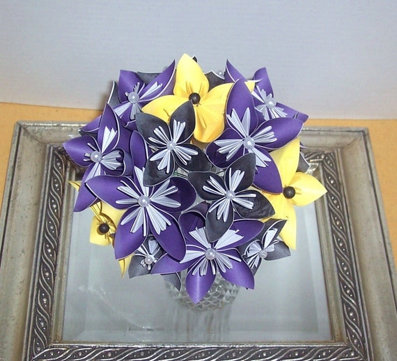 Origami paper flower bouquet, wedding, event, arrangement