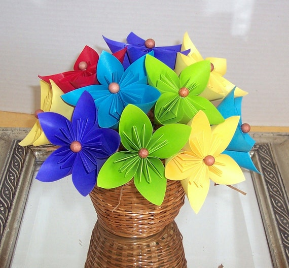 Origami, Paper flowers,  floral arrangement - reduced