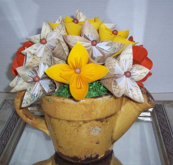 Paper Flowers floral arrangement, Great gift for MOM, housewarming, anniversary, birthday or any event