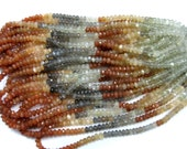 7 inches long Natural Moonstone Faceted Beads Strands, AAA  quality multi colour gemstone beads micro faceted 5 mm roundelle Beads Strands