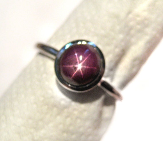 Natural Star Ruby Ring 925 Sterling Silver Six Star Ruby Gemstone july birthstone wedding Engagement Ring beautiful christmas gift for her