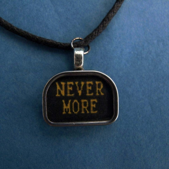 Never More Tombstone Pendant- For lovers of  Edgar Allan Poe, the Victorian Era and Steampunk