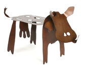 Have a Cow - Garden metal art sculpture - EarthStudioMetalArt