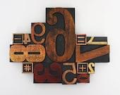 Letterpress Number Collage