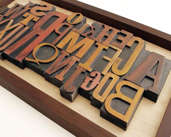 Large Letterpress Alphabet