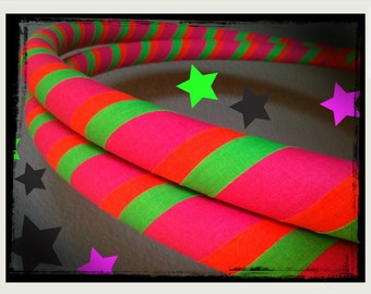 Neon Rainbow Sherbet  Dance & Exercise Hula Hoop COLLAPSIBLE or Push Button pink green orange