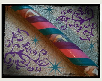 Tie Dye Dream Dance & Exercise Hula Hoop COLLAPSIBLE or Push Button - batik pink teal purple