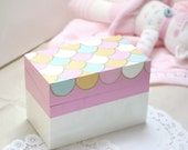 Fairytale Box Little Girls Room Decor Pink Pastel Scallops Children's Trinket Box Handmade by MissSarahMac on Etsy