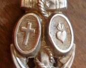 Silver Ex Voto Lourdes Anchor Pendant Gorgeously Detailed Religious Offering