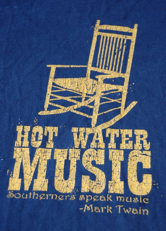 amazing HOT WATER MUSIC 2 sided concert t-shirt