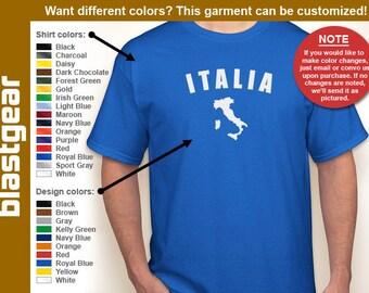 ITALIA retro T-shirt — Any color/Any size - Adult S, M, L, XL, 2XL, 3XL, 4XL, 5XL  Youth S, M, L, XL