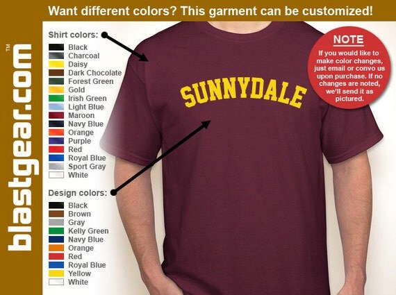 Sunnydale High School T-shirt — Any color/Any size - Adult S, M, L, XL, 2XL, 3XL, 4XL, 5XL  Youth S, M, L, XL