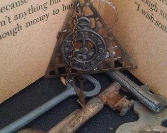 Clock Brooch