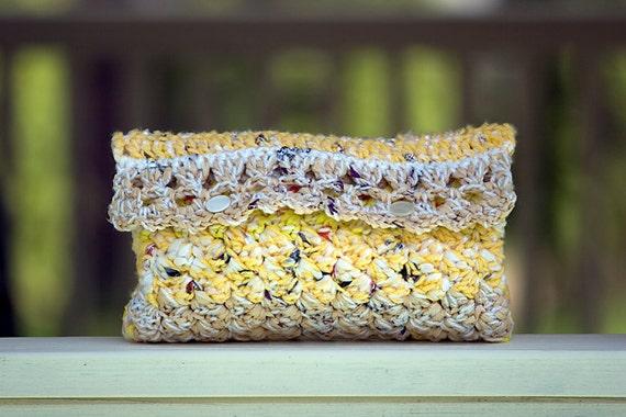 Yellow Bag - Yellow Clutch Purse - Eco Friendly Fashion - Yellow Handbags - Gifts under 25 - Gifts for Women
