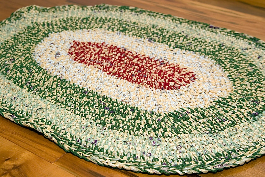 Crocheting With Plastic Bags : Oval Area Rug Plastic Bags & Yarn Crochet by RecycleThyme on Etsy