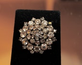 Vintage Crystal Rhinestone Brooch / Pin Stunning