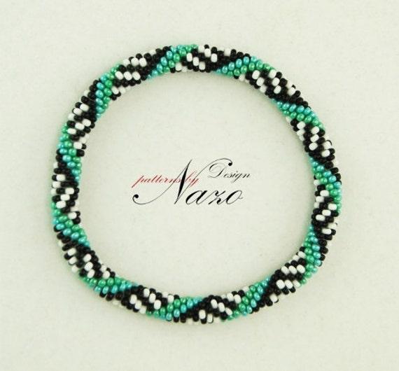 Spirals - Crochet Bead Bracelet Pattern