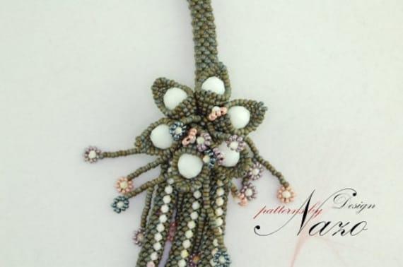 Bead Pattern - Sarnic ... - Beaded Necklace Tutorial
