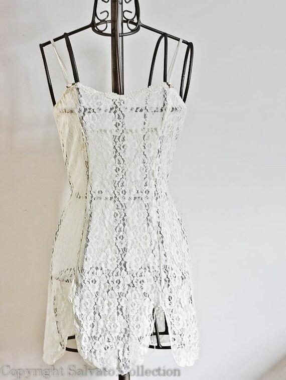 Bridal Ivory Lace Lingerie Dress