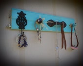 Teal TG Jewelry Display with Ring Hooks