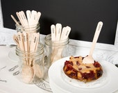 Hand-stamped Wooden Cutlery - Set