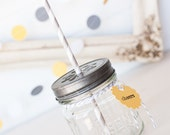 Mod Grey & Yellow Party Drink Kit