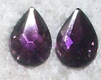 Rare Vintage Amethyst Givre Pear Stones