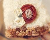 Newborn Pixie Bonnet with detachable flower head piece