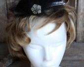 Vintage black hand made hat