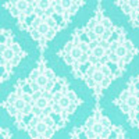 Michael Miller Fabric - Wedding Collection - Linda Lace in Aqua - LAST 1 Yard & 33.5 inches