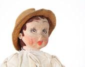 Vintage couple of retro rag dolls