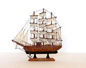 Vintage wooden mayflower ship boat model