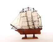 Vintage hms bounty ship boat model