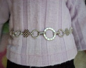 """American Girl 18 """" inch Doll Celtic SILVER chain Belt  Accessories"""