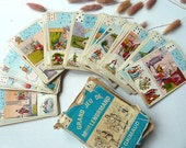 Rare French vintage fortune cards. Mademoiselle Lenormand .collectibles . paper ephemera .Tarot.Vintage playing cards