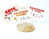 Vintage  DECORATIVE FRENCH TAGS .kitchen decor .French country decor