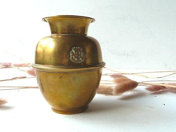 RESERVED  For Cynthia Antiquereligious vase .1800s. Antique.Religious .Madonna .Monogrammed ND.Church vase .Home decor.
