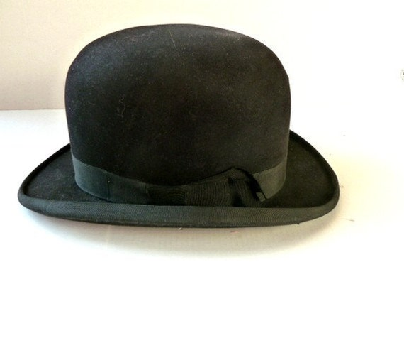 French Vintage bowler hat .Derby.Dobbs .Fall . Winter. Eveteam