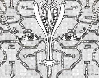"Eyes in the Dark - 4"" x 6"" Blank Card"