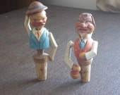 Vintage Mechanical Bottle Stoppers Made in Italy Set of 2