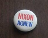 Vintage 1960s Nixon Agnew Pin